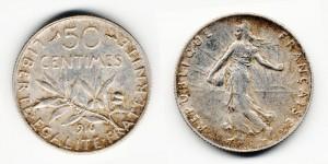 50 сантимов 1916 года