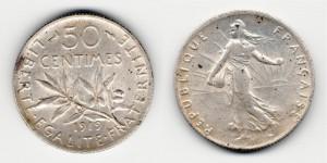50 сантимов 1919 года