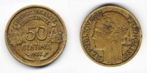 50 сантимов 1937 года