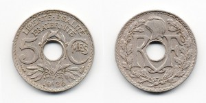 5 сантимов 1936 года