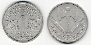 1 франк 1942 года