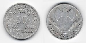 50 сантимов 1943 года