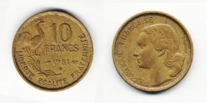 10 франков 1951 года