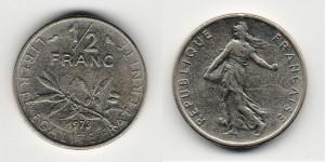 1/2 франка 1973 года