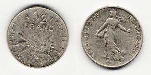1/2 франка 1984 года