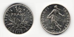 1/2 франка 2000 года