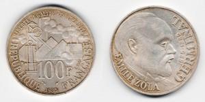 100 франков 1985 года