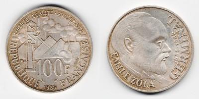 100 francs 1985