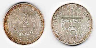 100 francs 1990
