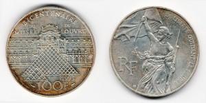 100 франков 1993 года