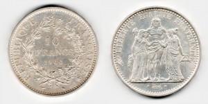 10 франков 1966 года