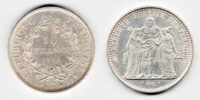 10 francs 1966