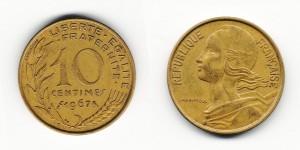 10 сантимов 1967 года