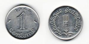1 сантим 1966 года