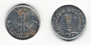 1 сантим 1967 года