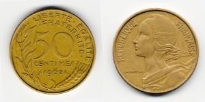 50 сантимов 1962 года