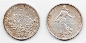 5 франков 1962 года