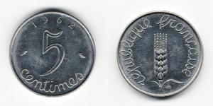 5 сантимов 1962 года
