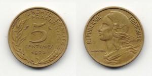 5 сантимов 1972 года