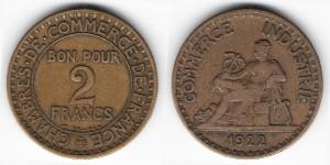 2 франка 1922 года