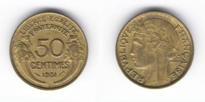 50 сантимов 1931 год