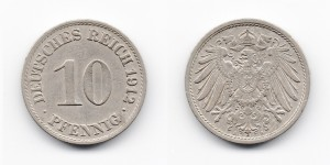 10 пфеннигов 1912 года