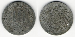 10 пфеннигов 1918 года