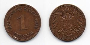 1 пфенниг 1912 года