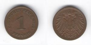 1 пфенниг 1900 года А