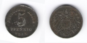 5 пфеннинг 1918 год D