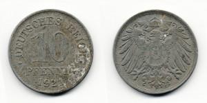 10 пфеннигов 1921 года