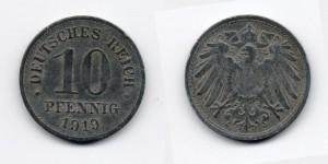 10 пфеннигов 1919 года