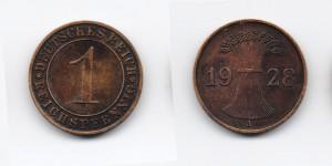 1 рейхспфеннинг 1928 года А