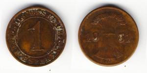 1 рейхспфенниг 1931 года А
