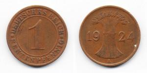 1 рентенпфенниг 1924 года