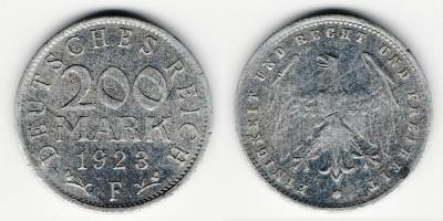 200 марок 1923 года F