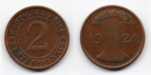 2 рентенпфеннига 1924 года J