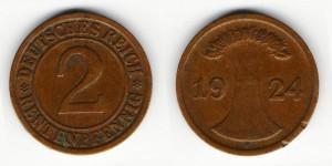 2 рентенпфеннига 1924 года D