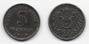 5 пфеннигов 1919 года
