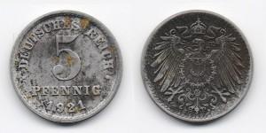 5 пфеннигов 1921 года
