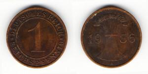 1 рейхспфенниг 1936 года А