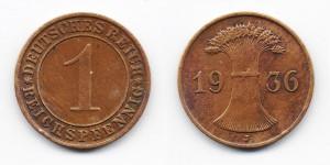 1 рейхспфенниг 1936 года