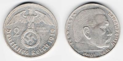 2 рейхсмарки 1939 года А
