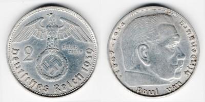 2 reichsmark 1939