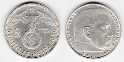 2 reichsmark 1939 D