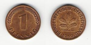 1 пфенниг 1969 года G