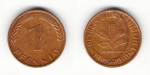 1 пфенниг 1970 года F