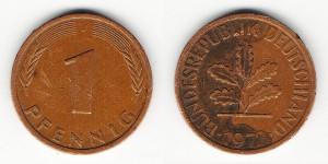 1 пфенниг 1978 года G