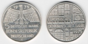 5 марок 1975 года F Охрана памятников