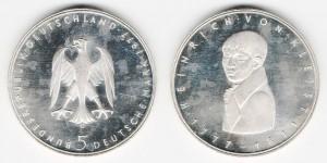 5 марок 1977 года G Генрих фон Кляйст